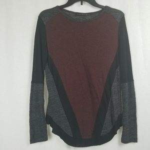 ZARA COLOR BLOCK SWEATER TOP SIZE MEDIUM